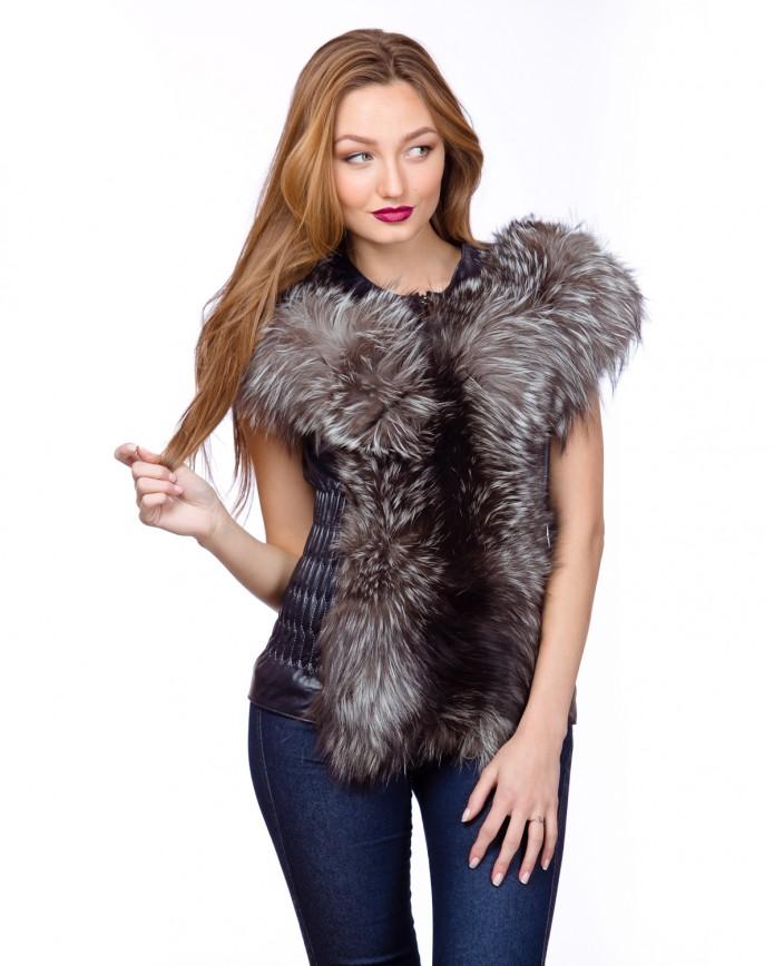 Women's fox waistcoat N.2050 Y70 ZIK ARJANTE 009 - интернет-магазин Alberta