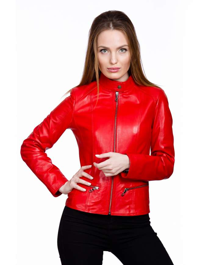 Женская кожаная куртка N.Z 08 Y120 ZIG 029