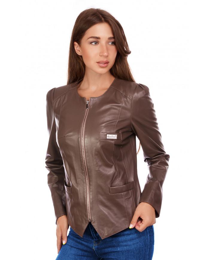 Кожаная куртка RC-795 Y115 ZIG 038 - интернет-магазин Alberta