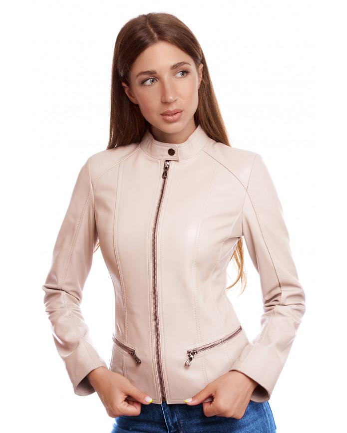 Women's leather jacket Z 08 Y120 ZIG 029 - интернет-магазин Alberta