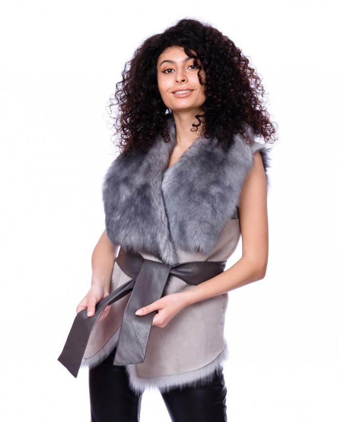 Женская жилетка из тосканы 1077 TOS C3 ICE 083 - интернет-магазин Alberta