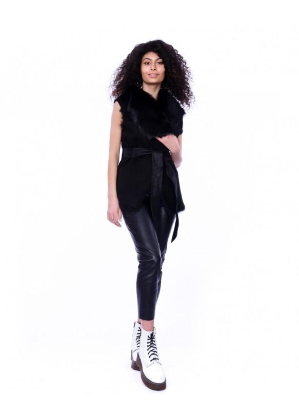 Women's sheepskin waistcoat 1077 TOS C2 ICE 083