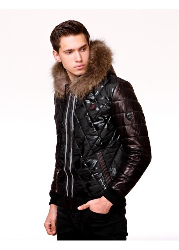 Мужская кожаная куртка AX6 Y130 ZIG 054