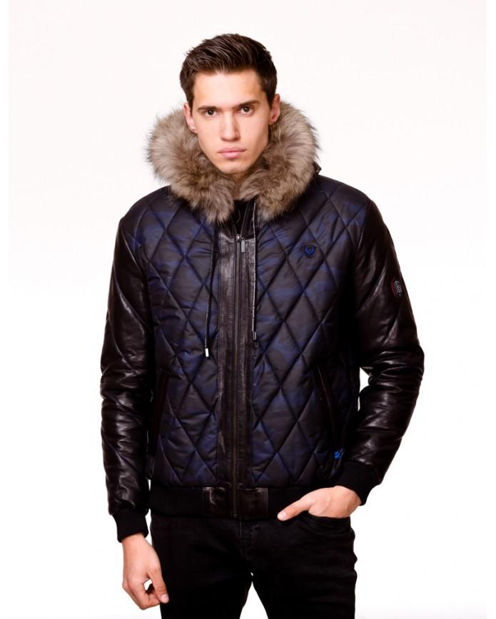 Мужская кожаная куртка С471 Y130 ZIG 054 - интернет-магазин Alberta