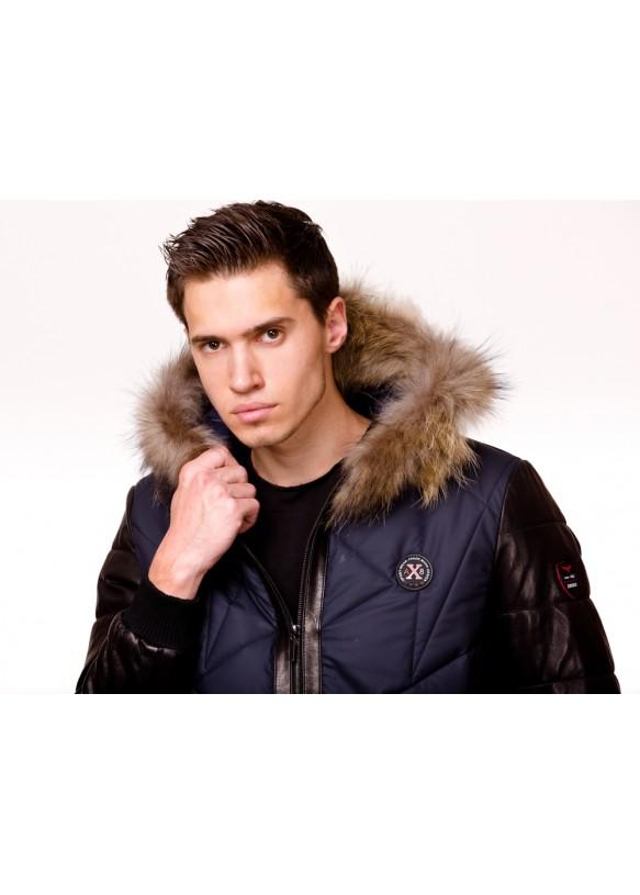 Мужская кожаная куртка AX8 Y130 ZIG 054