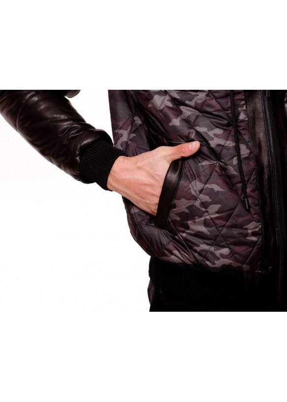 Мужская кожаная куртка AX81 Y130 ZIG 054