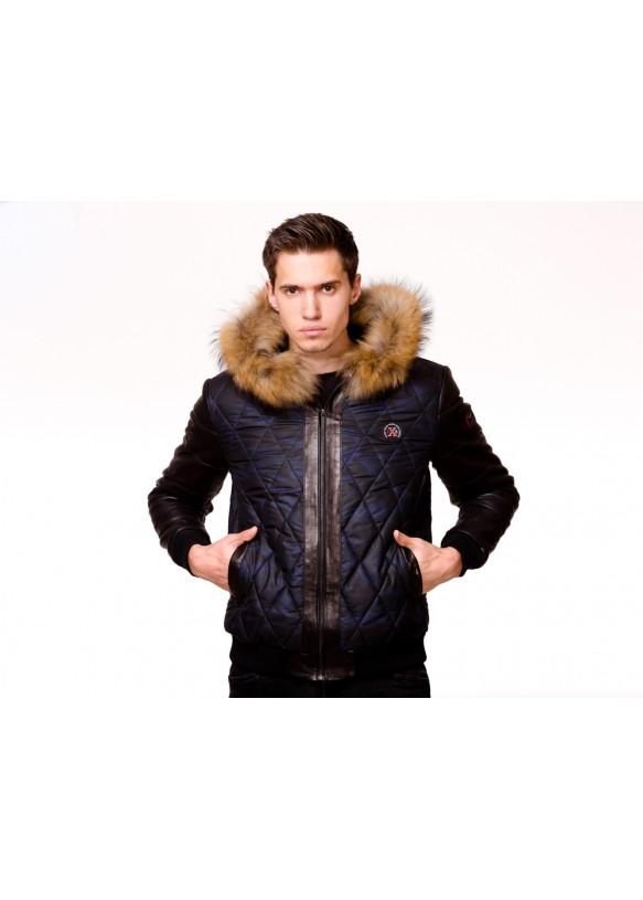 Мужская кожаная куртка AX82 Y130 ZIG 054