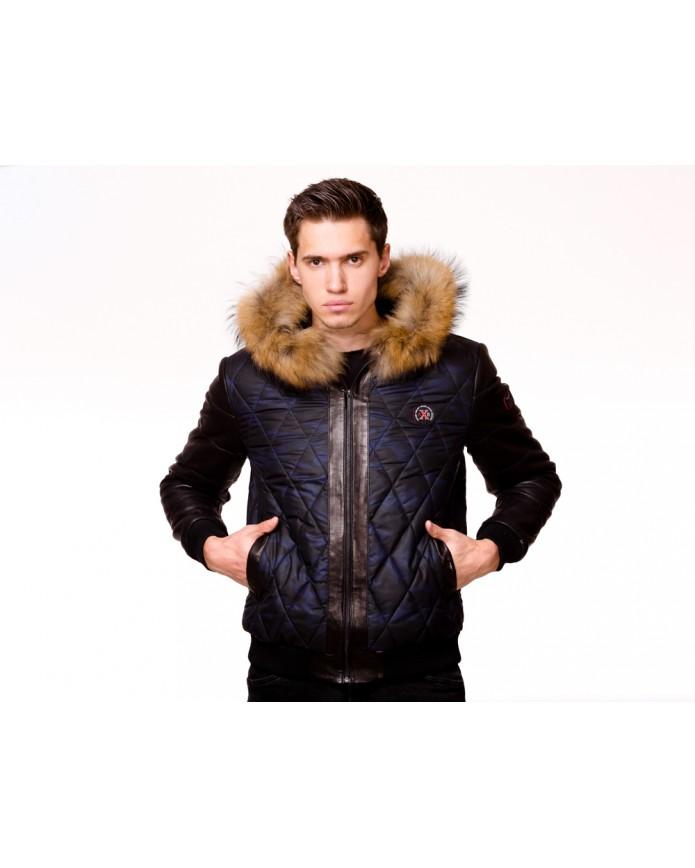 Мужская кожаная куртка AX82 Y130 ZIG 054 - интернет-магазин Alberta