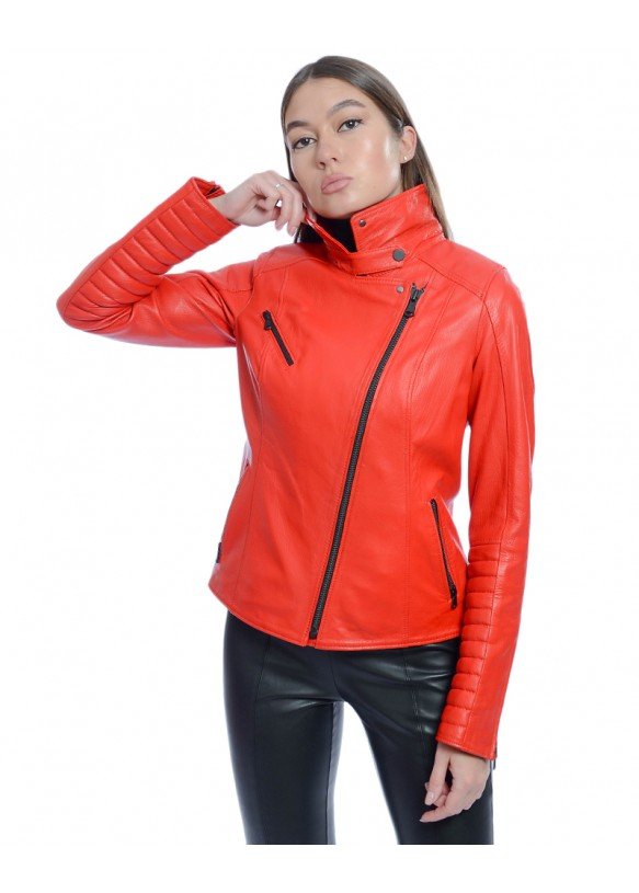 Женская кожаная куртка косуха RC-B-136 Y110 JUMBO 057