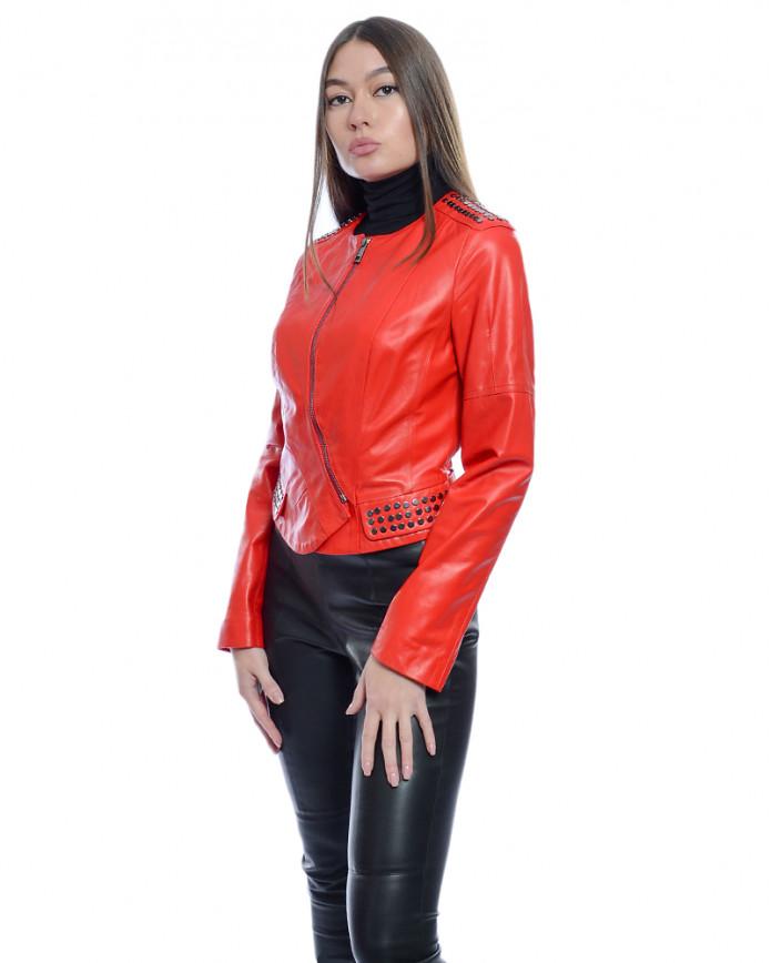 Женская кожаная куртка N. Z-10 Y110 ZIG 029