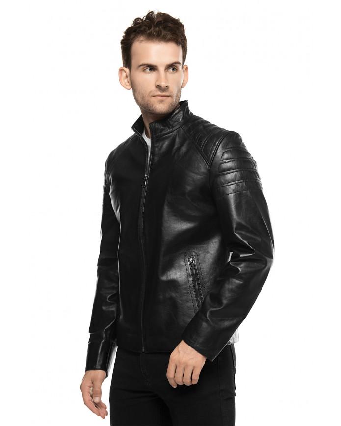 Мужская куртка из натуральной кожы E1-001 ZIK 107 - интернет-магазин Alberta