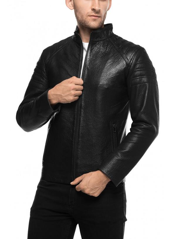 Мужская куртка из натуральной кожы E1-001 JUMBO 107