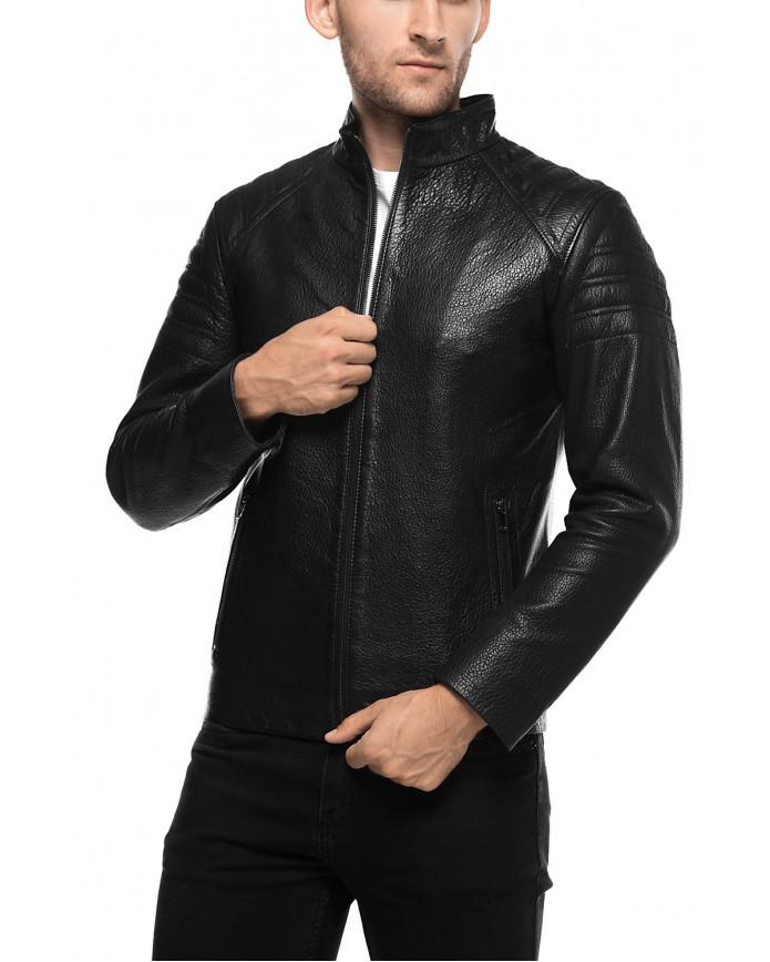 Чоловіча куртка з натуральної шкіри E1-001 JUMBO 107 - интернет-магазин Alberta