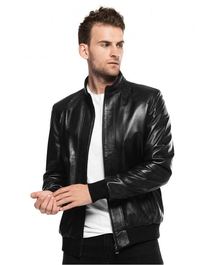 Мужская куртка из натуральной кожи E1-003 ZIK 107 - интернет-магазин Alberta