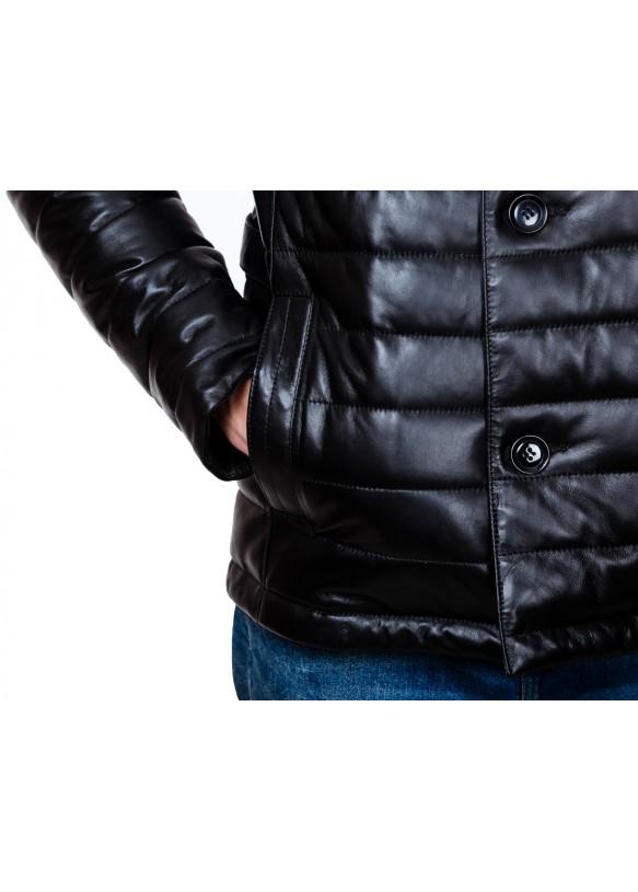 Мужская кожаная куртка 7008 Y115 ZIK 043
