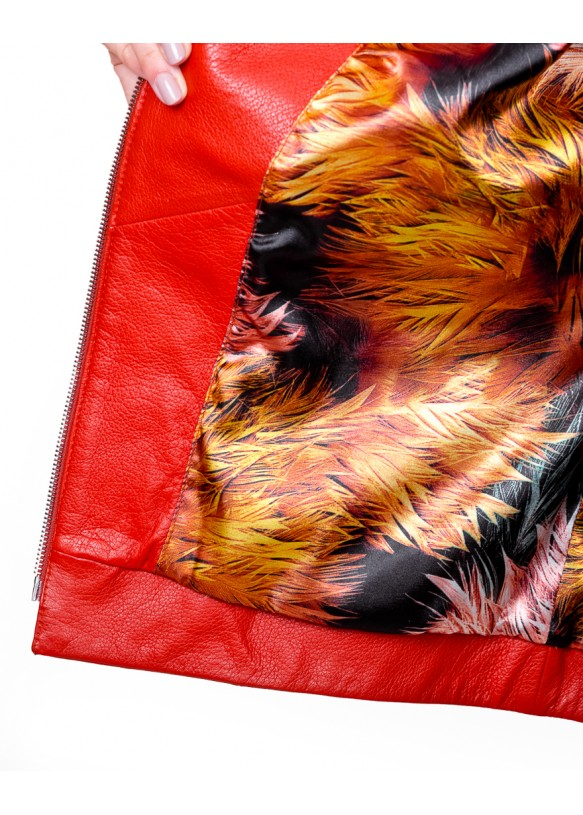 Женская кожаная куртка 2649 Y90 ASTON 047