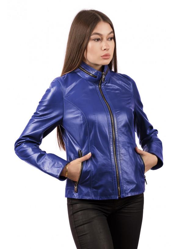 Женская кожаная куртка VV-540 Y110 ZIG 062
