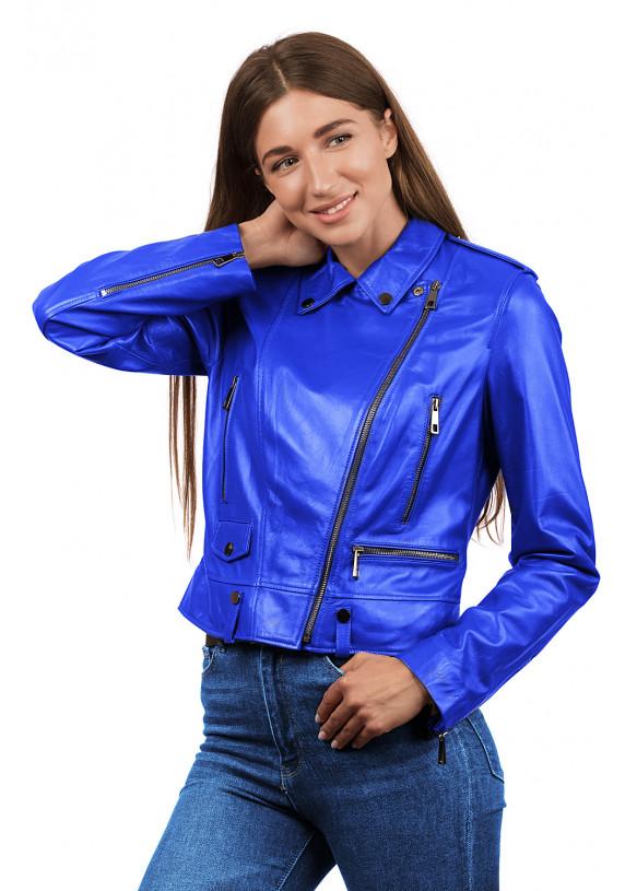 Женская кожаная куртка косуха N.Z-02 Y115 ZIG 029