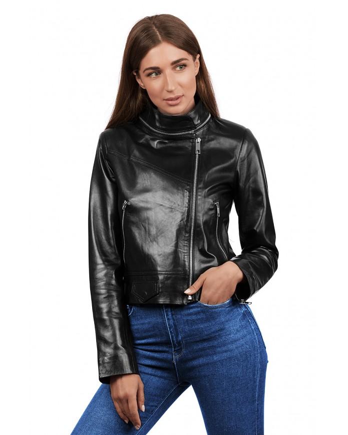 Кожаная куртка -косуха 3004 Versiyon VEGETAL 092 - интернет-магазин Alberta