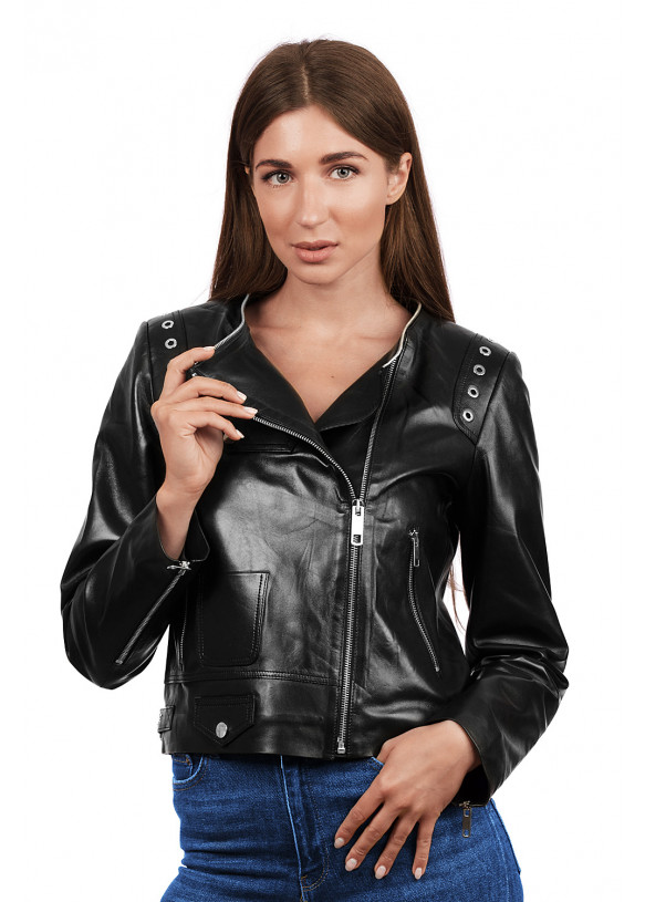 Женская кожаная куртка 3004 VEGETAL 092