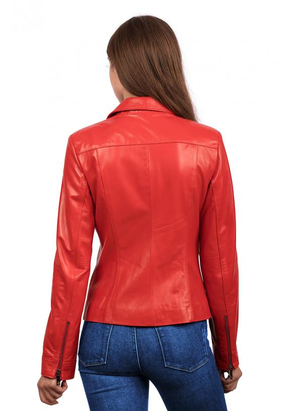 Женская кожаная куртка косуха  Z-6 Y115 ZIG 029
