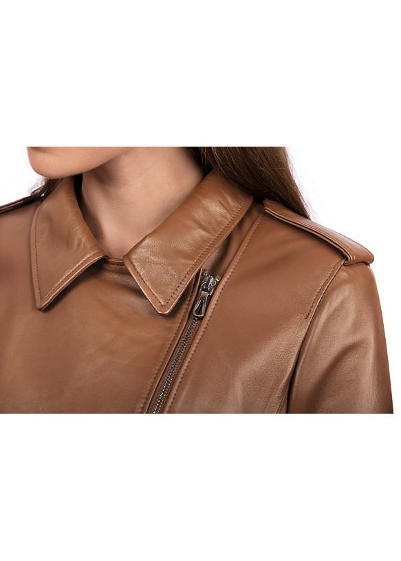 Женская кожаная куртка косуха Z-03 Y120 ZIG 029