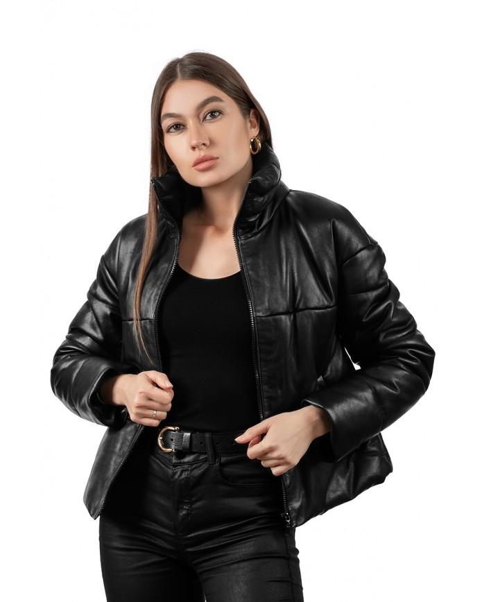 Кожаная демисезонная куртка VT-Z-1026 Y95 ZIG 066 - интернет-магазин Alberta