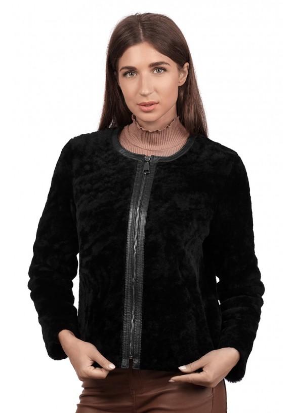 Женский полушубок из натуральной овчины 1087/55 BOY Y70 ASTRAGAN 012
