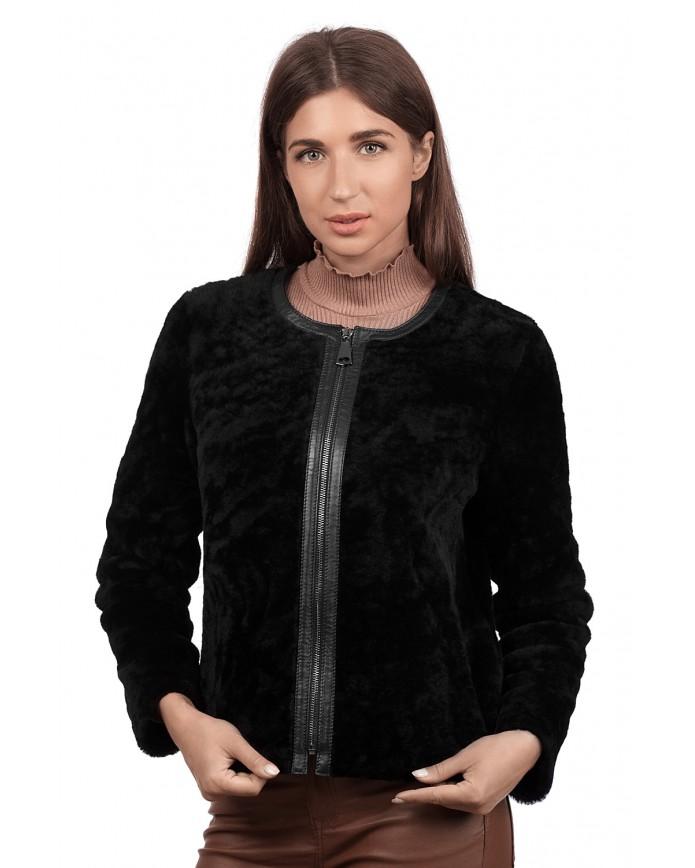 Женский полушубок из натуральной овчины 1087/55 BOY Y70 ASTRAGAN 012 - интернет-магазин Alberta