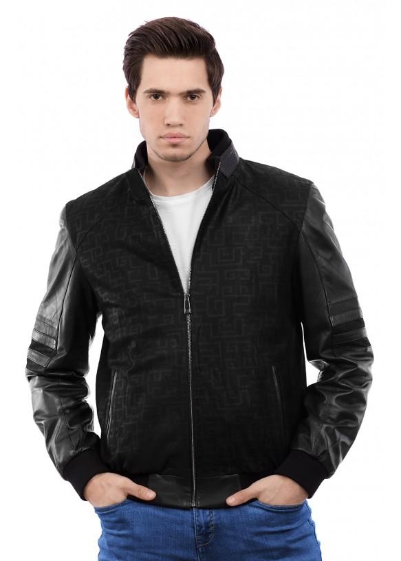 Мужская кожаная куртка 8060 Y95 SERIGRAF 029
