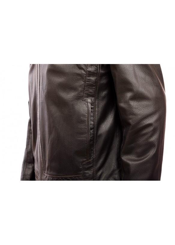 Мужская кожаная куртка 2685 Y100 JAMBO 051