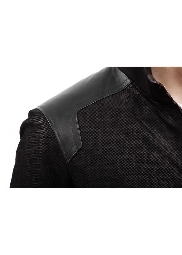 Мужская кожаная куртка 8059 Y95 SERIGRAF 029