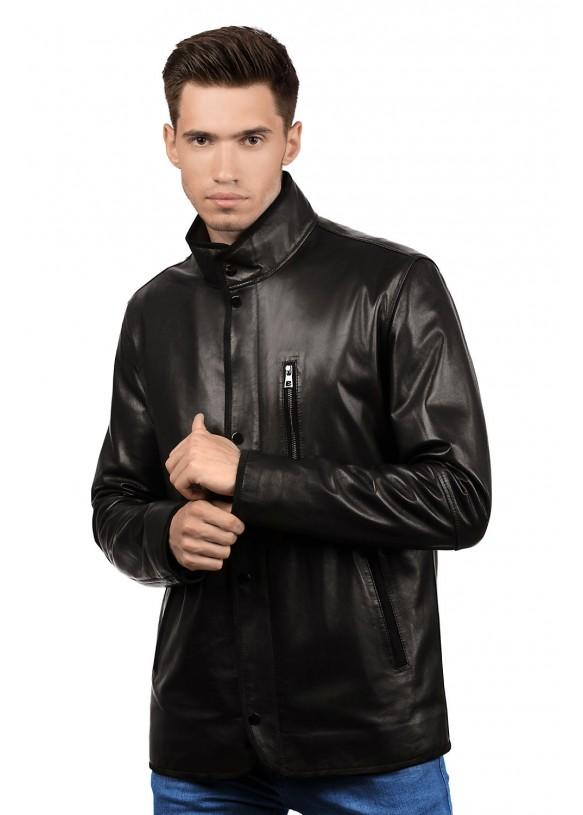 Мужская кожаная куртка 8403 Y115 ZIG 084