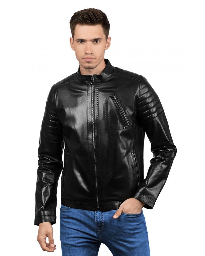 Чоловіча шкіряна куртка 4010 VEGETAL 092 - интернет-магазин Alberta
