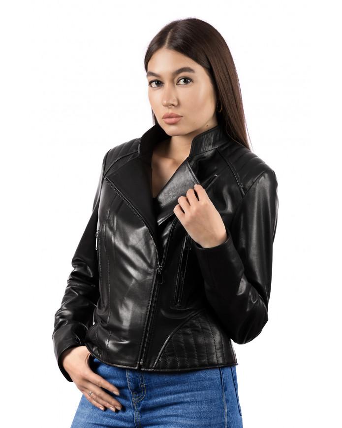 Женская кожаная куртка A.A1 ZIK 093 - интернет-магазин Alberta