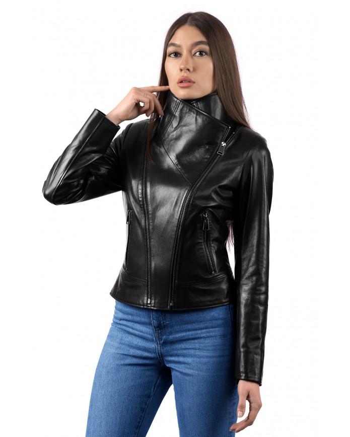 Женская кожаная куртка SFR 33 ZIK 093 - интернет-магазин Alberta