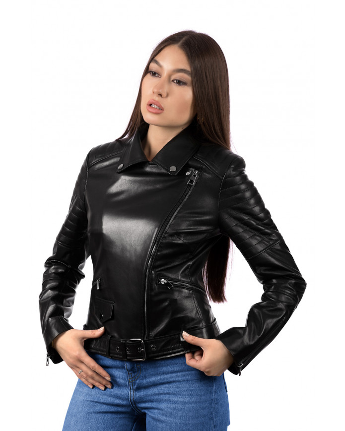 Women's leather jacket  219 ZIK 093 - интернет-магазин Alberta