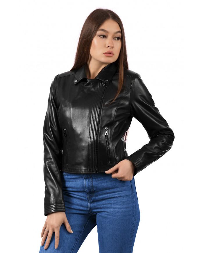 Женская кожаная куртка 1453 ZIK 093