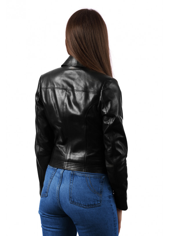 Женская кожаная куртка N1453 VEGETAL 093