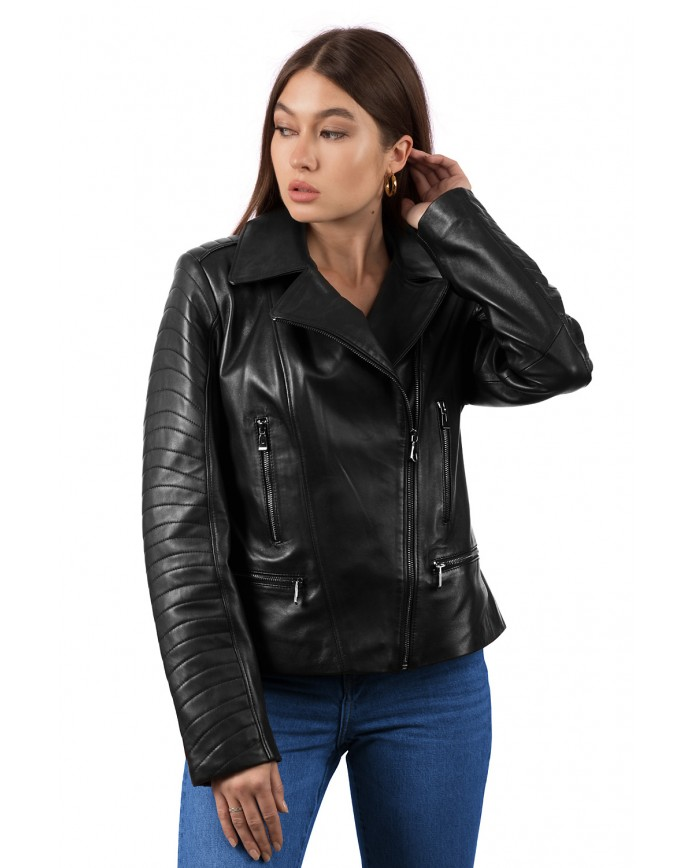 Women's leather jacket  4010 Y115 ZIG 029 - интернет-магазин Alberta