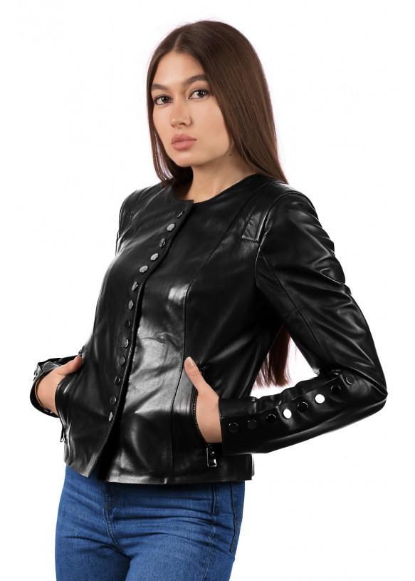 Женская куртка из натуральной кожи B1-007 GG ZIG 108