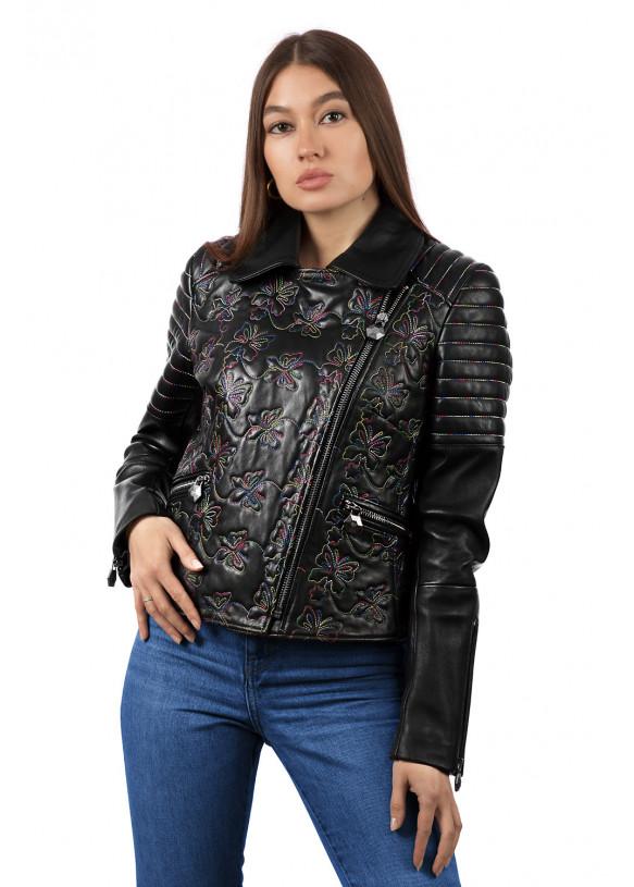 Женская кожаная куртка косуха 8209 ZIK 082