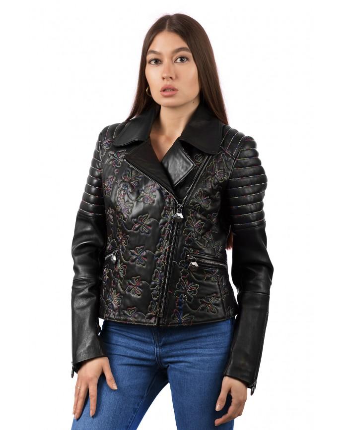 Жіноча шкіряна куртка косуха 8209 ZIK 082 - интернет-магазин Alberta