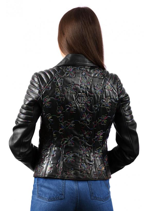 Кожаная куртка - косуха 8209 ZIK 082