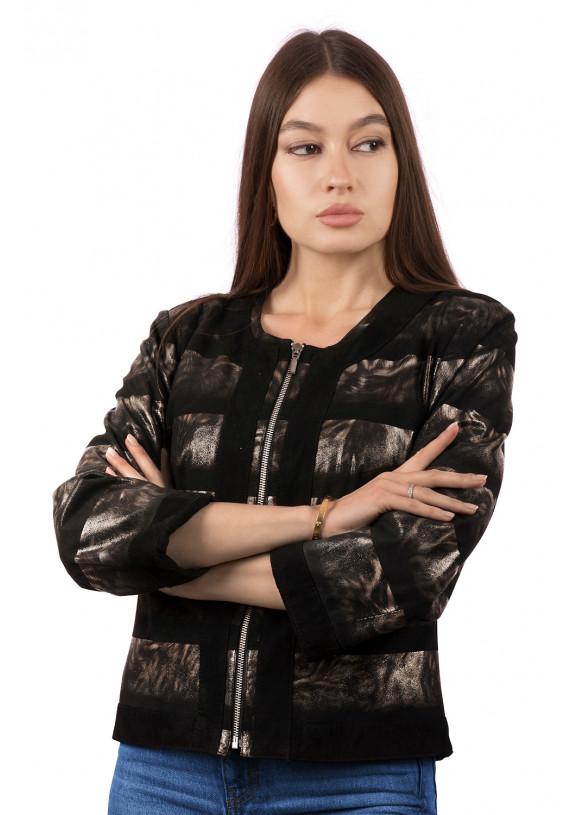 Женская кожаная куртка 8217 ZAMSH 082