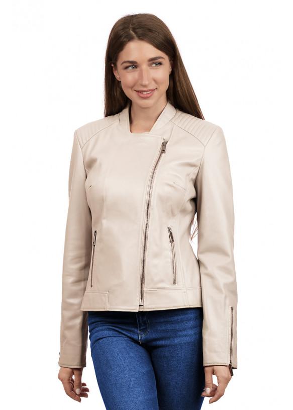 Женская кожаная куртка  косуха Z-7 Y120 ZIG 029