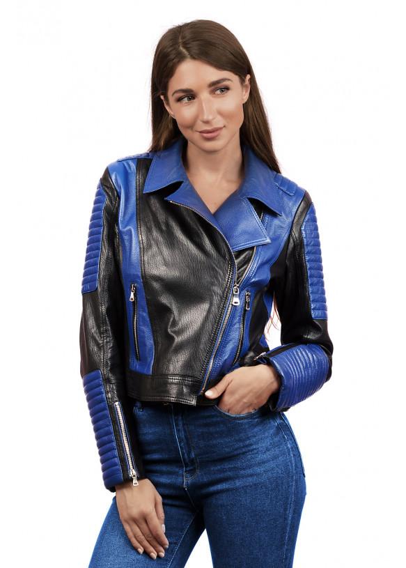 Кожаная куртка- косуха DC-1577 Y110 JUMBO 057
