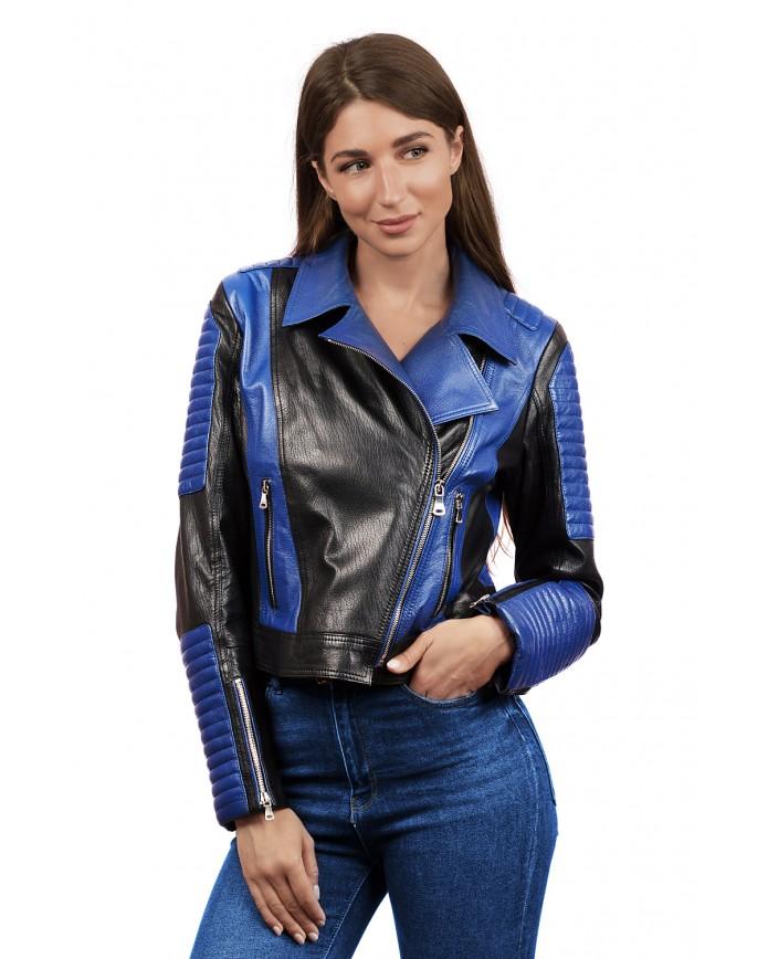 Женская кожаная куртка косуха DC-1577 Y110 JUMBO 057 - интернет-магазин Alberta
