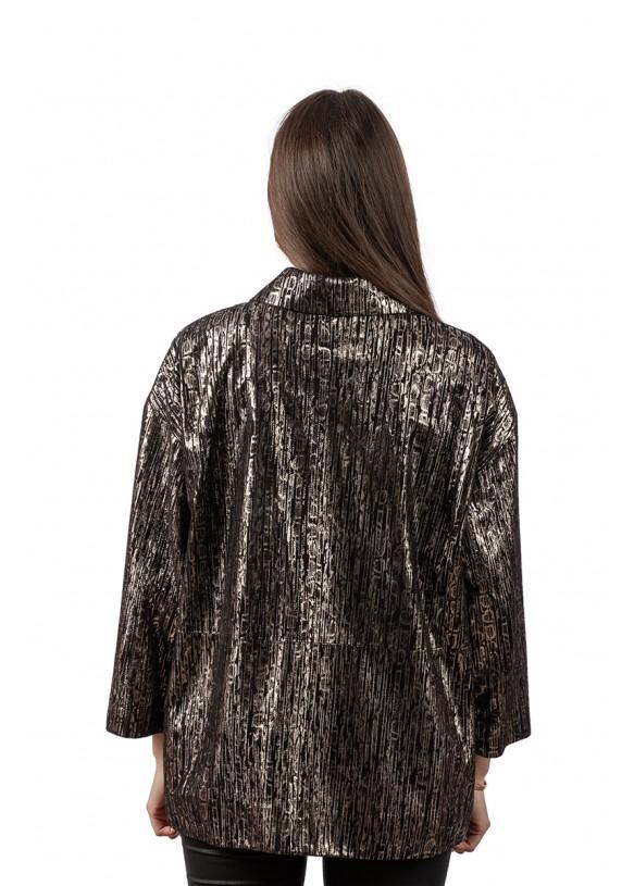 Женская кожаная куртка AC-337(1) Y110 ZIG 057