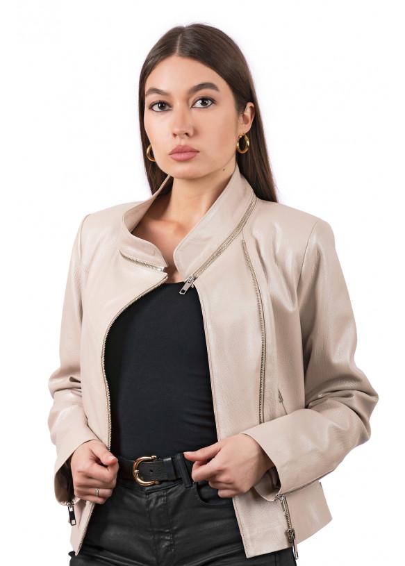 Женская кожаная куртка косуха 3004 C9 VEGETAL 092